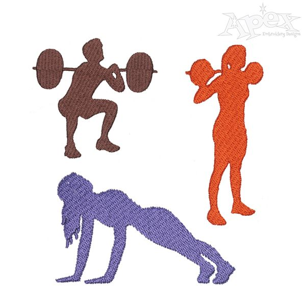 Fitness Bike Embroidery Designs