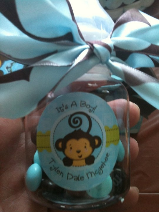 Baby Monkey Shower Theme Boy