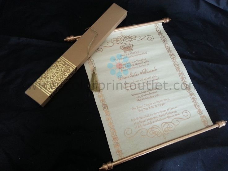 Cheap Scroll Invitations