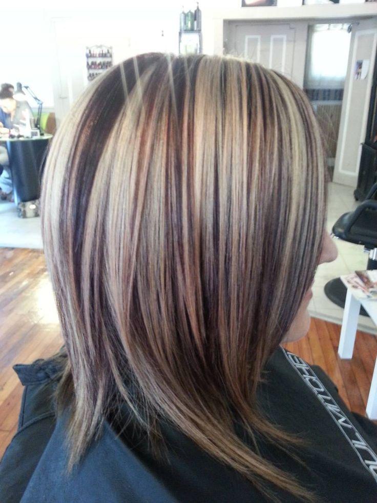 Red Lowlights Light Brown Hair