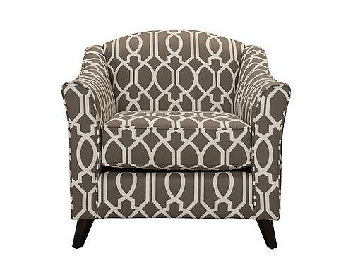 Accent Chairs Gray Pattern
