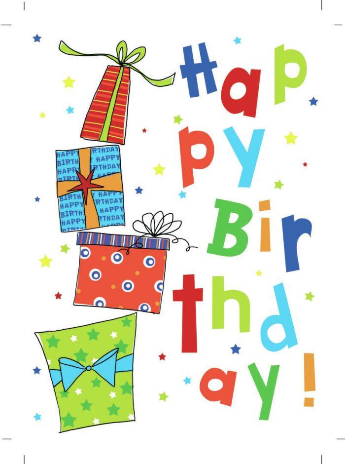 Cartoon Happy Manly Birthday