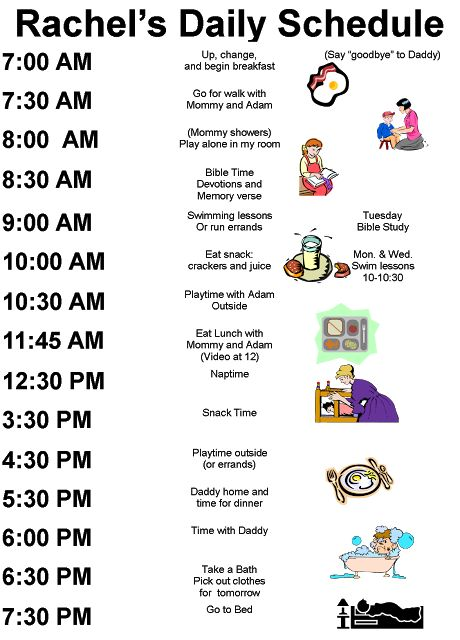 Free Printable Kids Schedule Daily