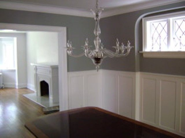 Gray room wainscoting decorating kitchen dining, 20 x 38 house plans