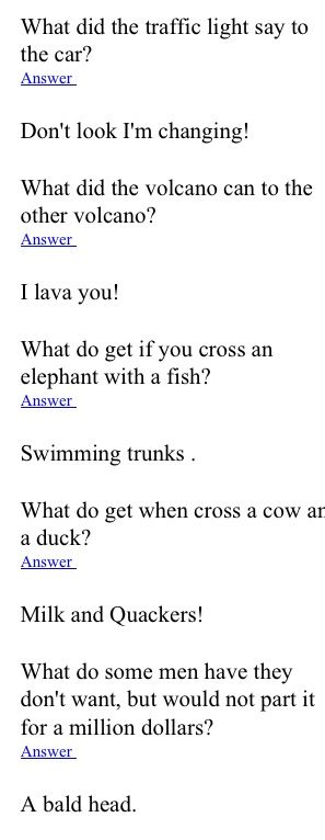 Funny Jokes Question And Answers