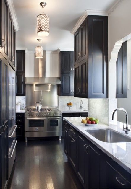 Stainless Steel Galley Kitchen