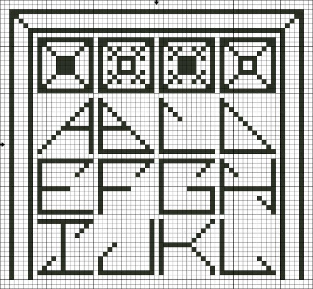 Filet Crochet Letter Patterns Alphabet