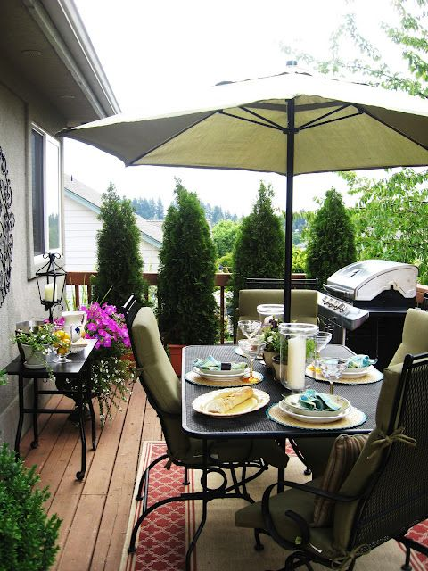 Outdoor Potted Plants Privacy Deck