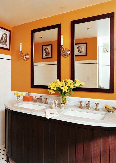 17 Best Images About Orange Bathrooms On Pinterest Tile