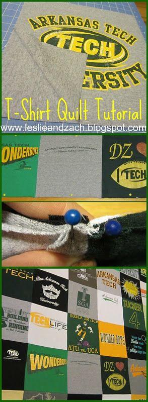 Tying Tshirt Quilt