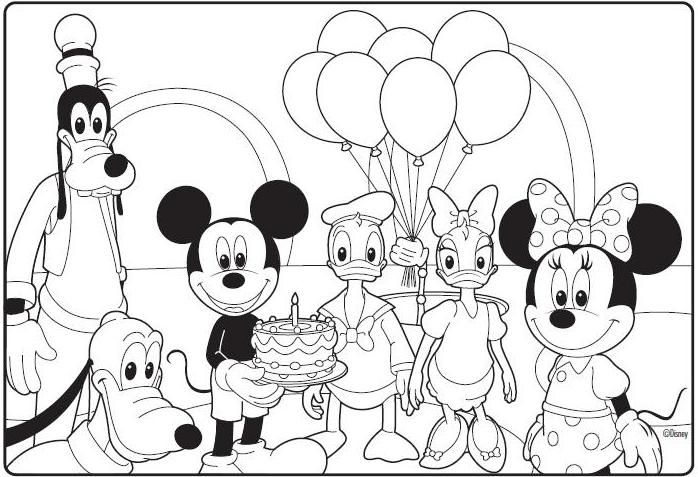 Coloring Mickey Mouse Clubhouse Christmas Pages