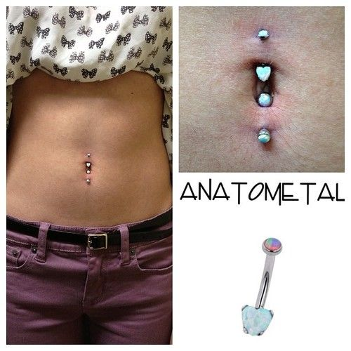 J Curve Belly Button Rings