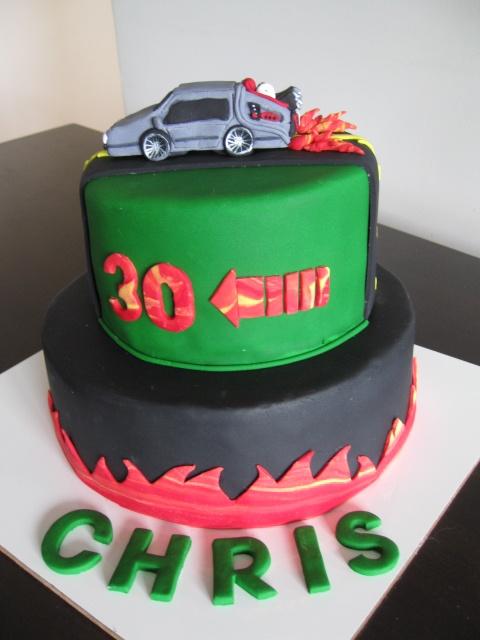 Back To The Future Delorean Cake Chris Birthday Cake