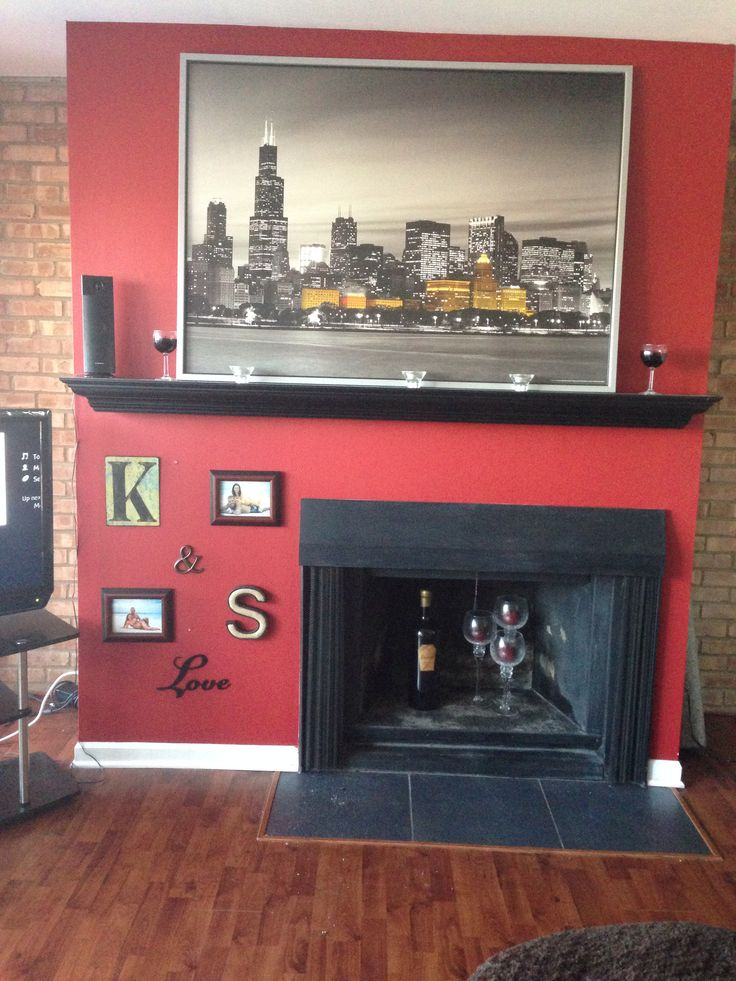 Off Center Fireplace Decorations Ideas For The House Pinterest A Well Mantles And Colors