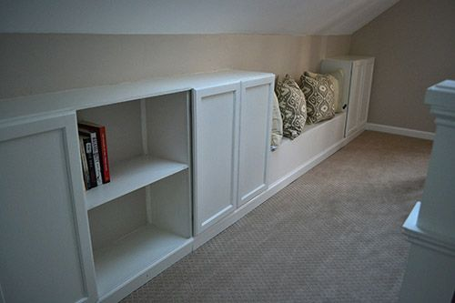 Adding Built In Bookcase To Knee Wall For Extra Storage