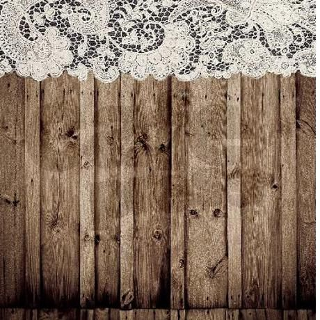 Barnwood White Lace Country Shower Curtain Lace Shower