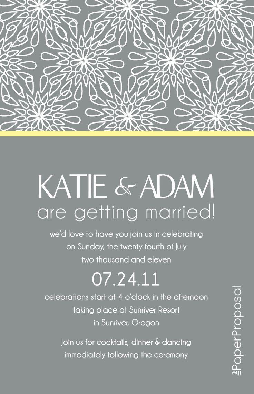 Modern Wedding Invitation Text