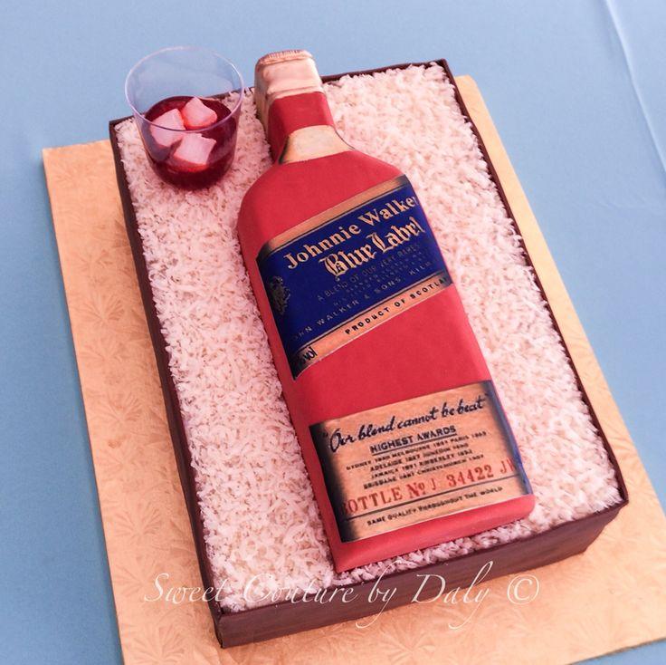 Johnnie Walker Blue Label Cake Bottle Cakes Pinterest