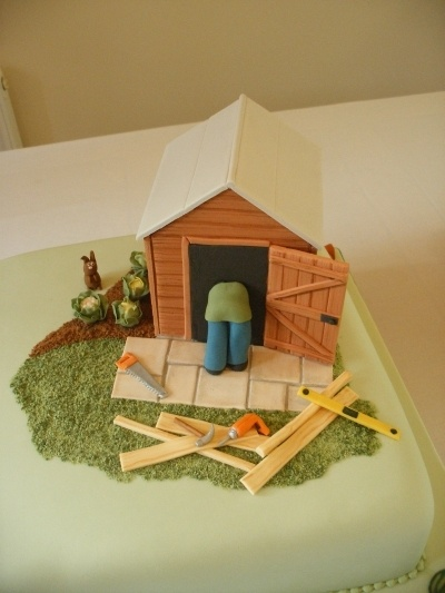 Shed And Tools By Trudies Cakes On Cakecentral Com Cake