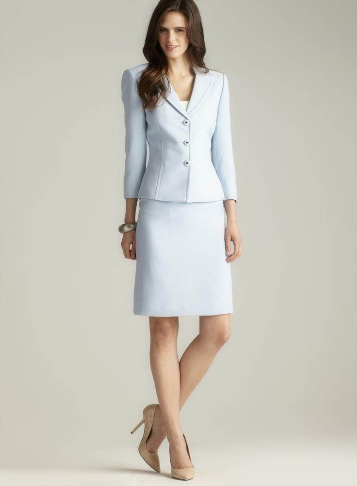 Light Blue Dress Suits Women