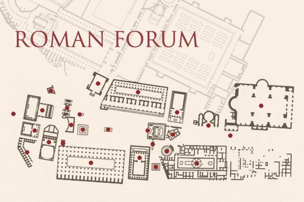 Roman Forum--Clickable Map | Rome and other history ...