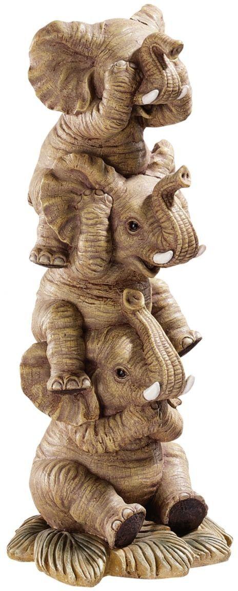 Trunk Monkey Antique Elephant Evil No Evil Evil No Made Speak Hear Ivory No See