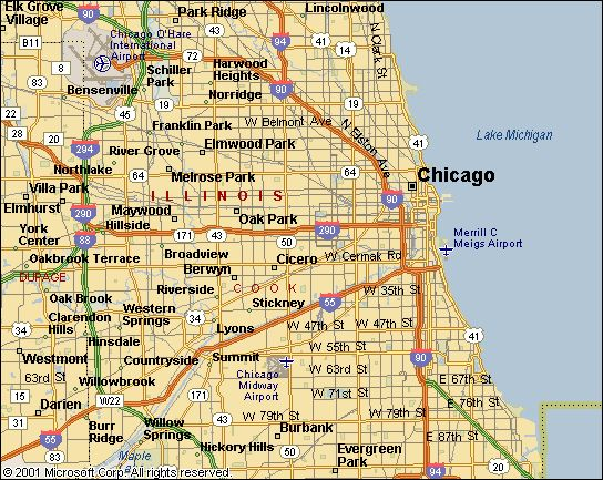 South Chicago Suburbs Zip Code Map