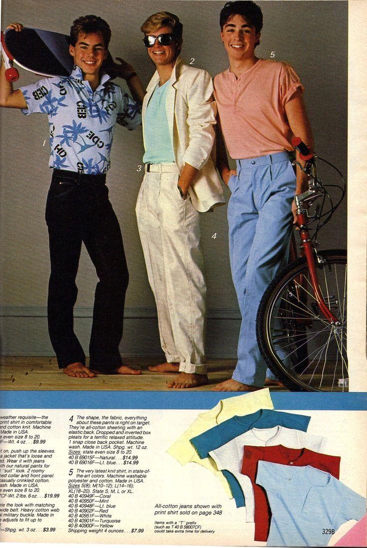 Preppy 80s Fashion Men