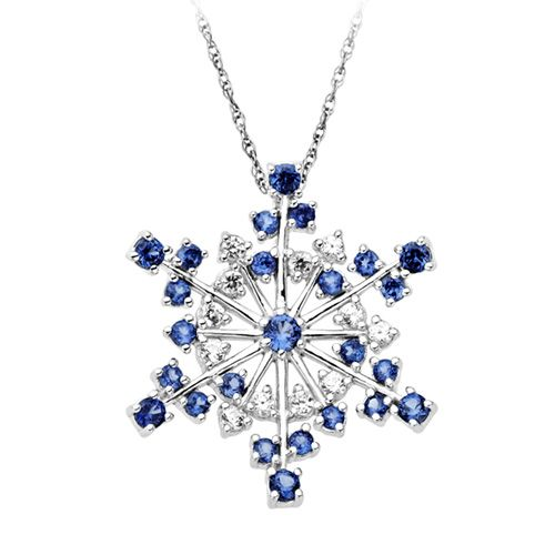 Kay Jewelers Diamond Necklace 1 3 Ct Tw Blue White Sterling Silver