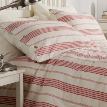 17 Best Images About Red Stripe Duvet Cover On Pinterest