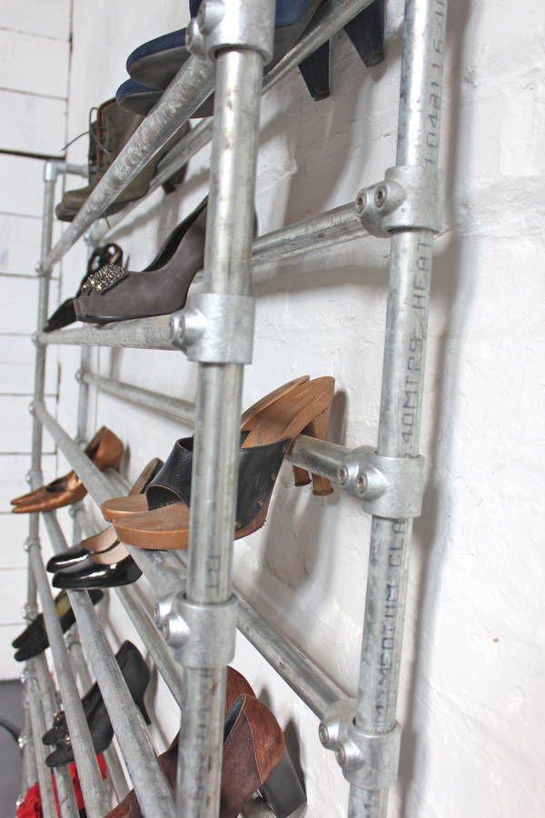 Lauren Galvanised Steel Pipe Shoe Rack Pvc Pipes