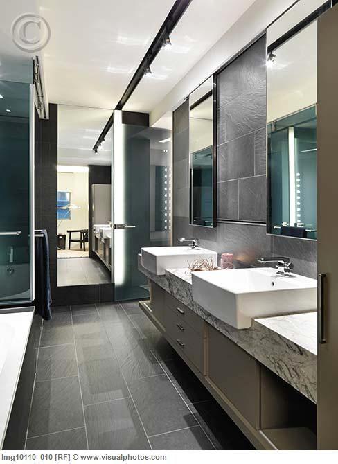 Grey Rectangular Floor Tiles Bathroom Pinterest Grey
