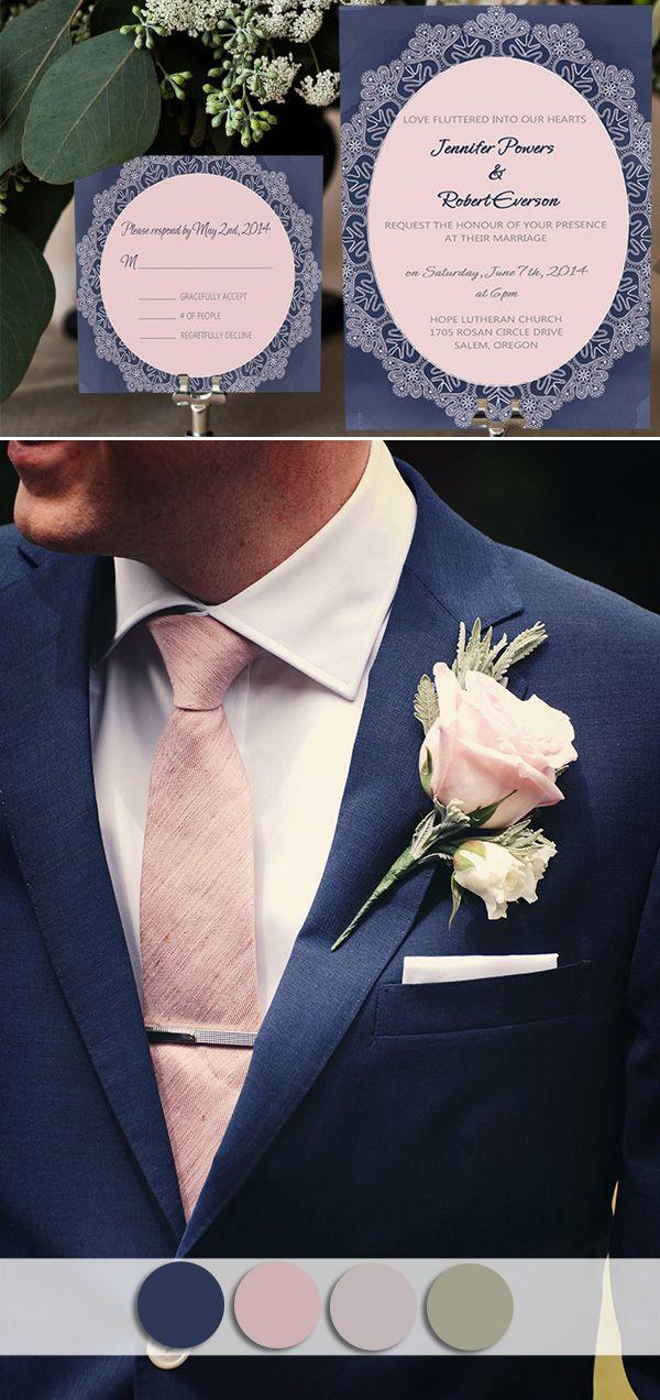 Cheap Wedding Invitations Navy Blue
