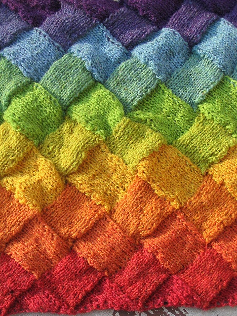 Knit Baby Blanket Patterns Words