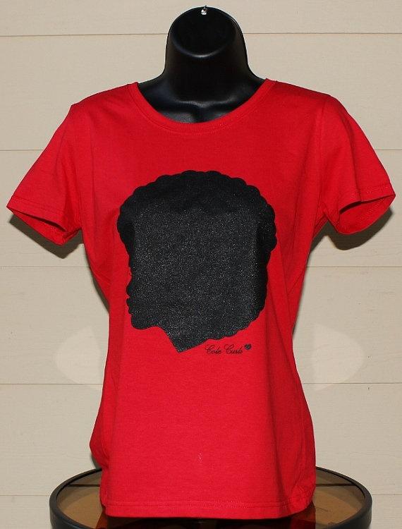 Rhinestones Shirts T Hair Natural