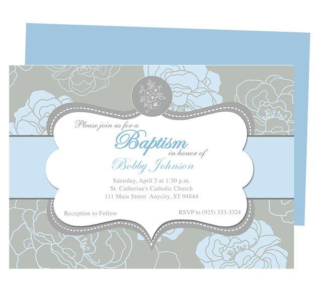 Invitation Card Christening Editing
