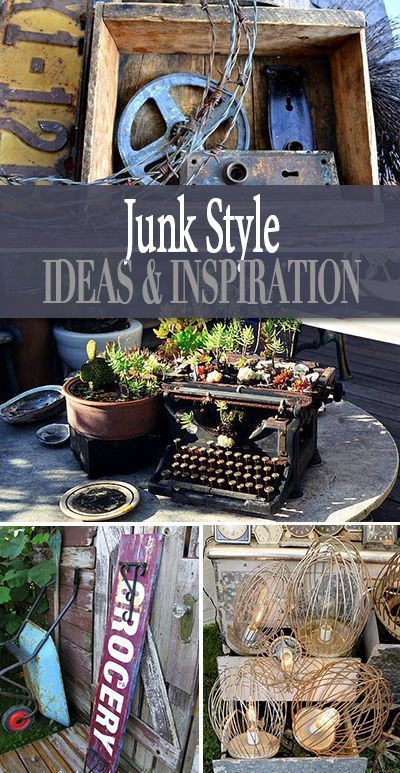 Junk Style Ideas And Inspiration Style Ideas Planters