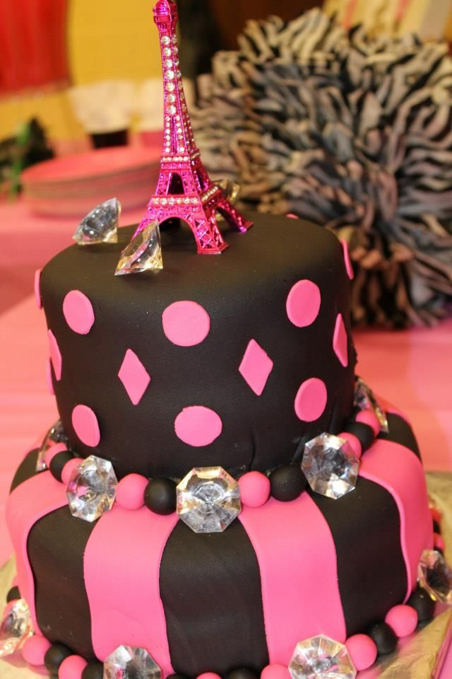 Parisian Birthday Cake Eiffel Tower Cake Jada S 11th