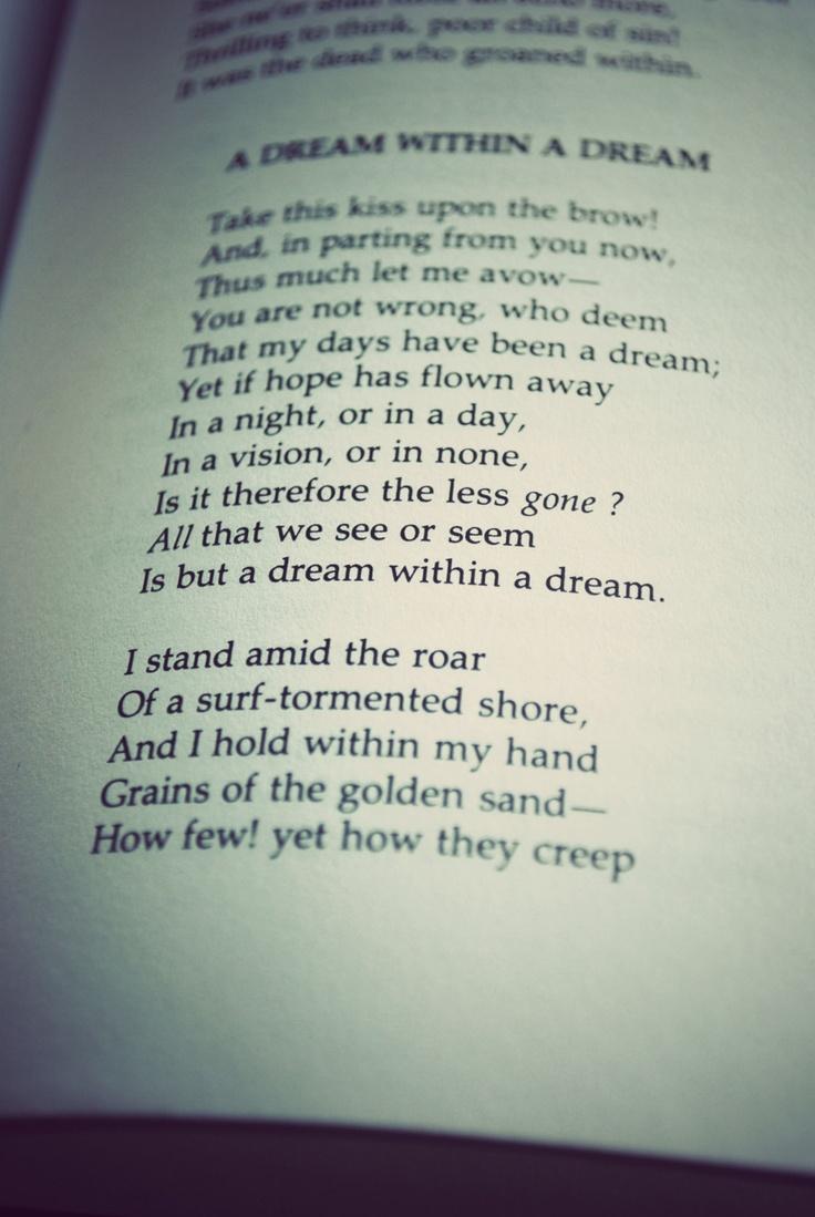 Edgar Allan Poe Dream Poem