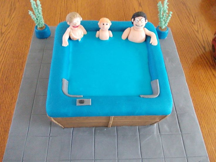 15 Best Images About Hot Tub Cake On Pinterest Birthday
