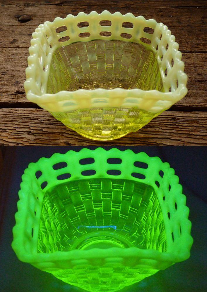 72 Best Images About Vaseline Glass On Pinterest Opaline