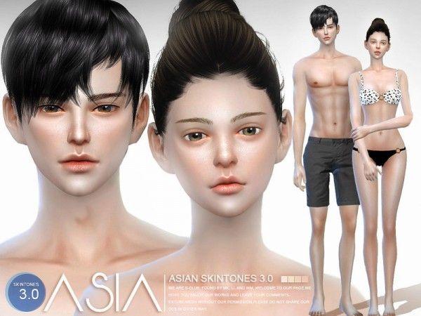Sims Skin 4 Tones 30 Cc