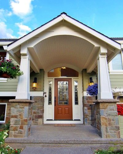Split Level Portico Before And After For The Home
