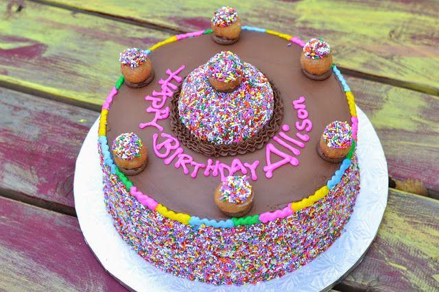 Doughnut Birthday Cake From Mustang Donuts In Dallas