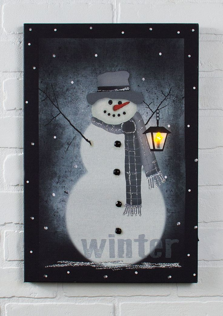Lighted Led Snowman Holiday Prints