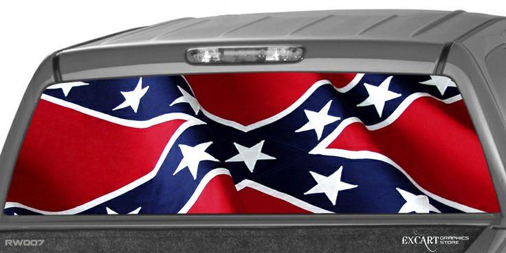 Big Lifted Chevy Rebel Flag