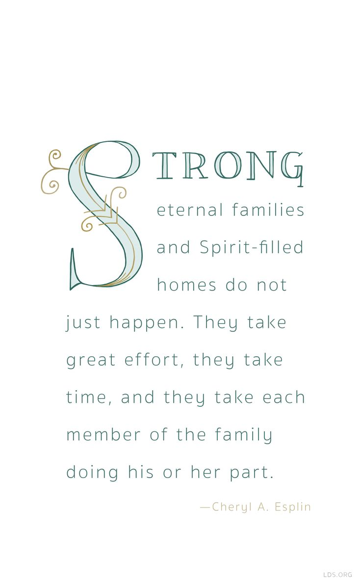 Family Lds About Quotes
