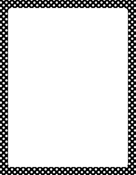 And Borders Paper Cute White Black