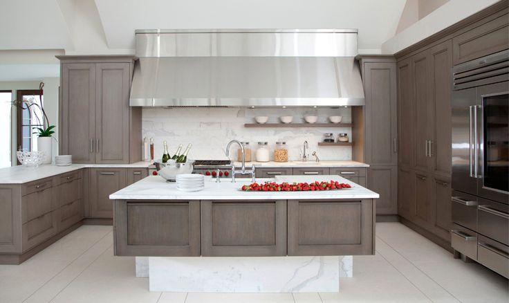 Grayish White Wash Cabinets