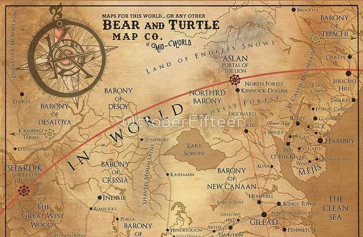 Stephen King Dark Tower Map on